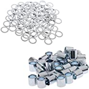 140PCS Spacers and Washers for Skateboards and Longboards, Truck Axle Wheels Speed Rings Bearing Spacers, Hard