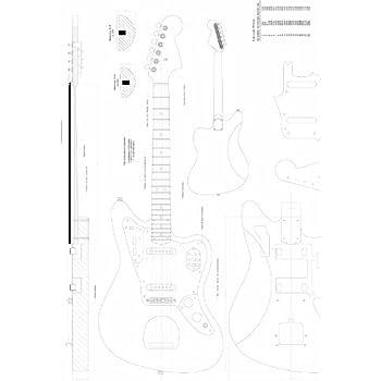 full scale guitar plans fender stratocaster hss electric guitar actual size. Black Bedroom Furniture Sets. Home Design Ideas