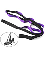 Lixada Yoga Daisy Chain ، Yoga Daisy Chains Multi loop Yoga Strap غير elastic Stretch Band for Pilates Dance Therapy Gymnastics 10 loops