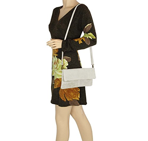 OBC Only-Beautiful-Couture - Bolso al hombro para mujer Rojo rojo 30x16x4 cm (BxHxT) beige