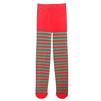 bf7f33535 Kids Various Colours Striped Tights - Red and Green  Amazon.co.uk ...
