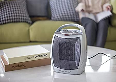 DONYER POWER 750W//1500W ETL Listed Ceramic Space Heater for Home and Office/,Portable Space Heaters with Adjustable Thermostat and Overheat Protection PTC903-S