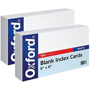 Amazon.com: Oxford tarjetas de índice, blanco, 5 x 8, en ...