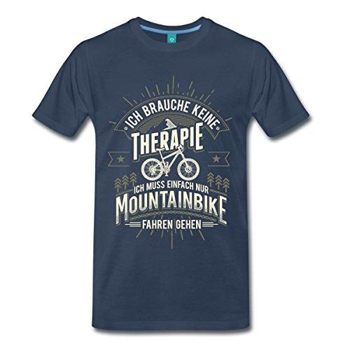Mountainbike Keine Therapie Spruch Männer Premium T-Shirt von Spreadshirt®, XL, Navy