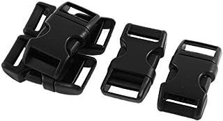 Galbés 6pcs Side sortie Boucle plastique pour 1.5cm Largeur Belt Strap
