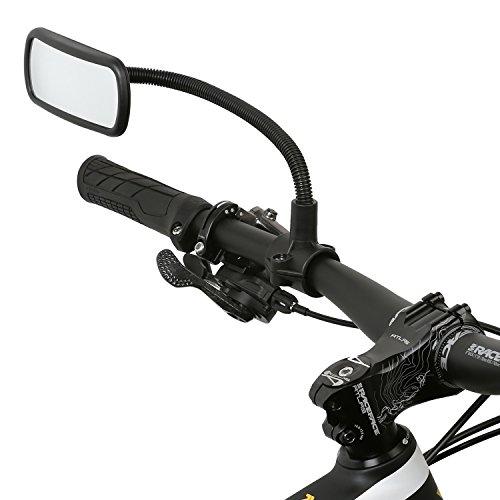 Wicked Chili Rückspiegel für Fahrrad / E-Bike / Roller / Mofa / Rollstuhl / Rollator / Kinderwagen / Golf Cart mit Schwanenhals (Spiegel Größe: 104 x 42 mm, Rohmontage, Made in Germany)