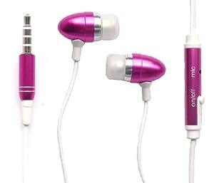 Emartbuy® Rosa In Ear Headset Manos Libres Estéreo Con Micrófono Adecuada Para Alcatel One Touch Star