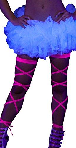 Edc Costumes Ideas (Neon Pink Black Light Leg Wraps)
