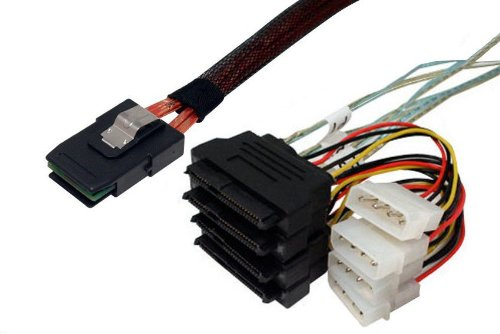 Data Storage Cables, p/n I3629-1M: Internal Mini SAS 36-SAS Drive x 4, 1M [Electronics] by Data Storage Cables (Image #1)