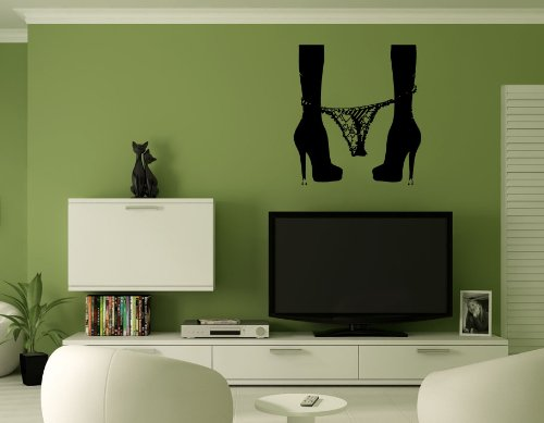 Sexy Woman Heels Wall Mural Vinyl Sticker Decal AL513