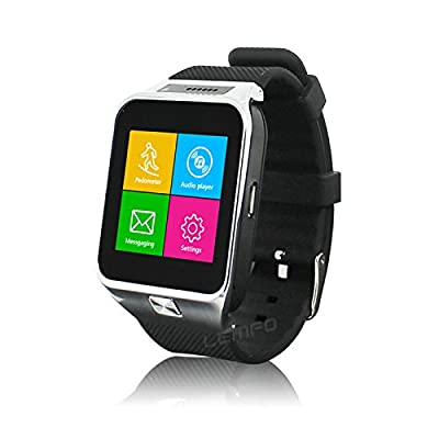 Best Smartwatch with Dual Functionality for Android and IOS Phones- Watch Comes with Sim Card Slot. Bluetooth Pairing, Unlocked Phone with Sim Card Slot (Connect to Cell Phone and Data Network), Sd Card Slot up to 8gb, Fitness Tracker.