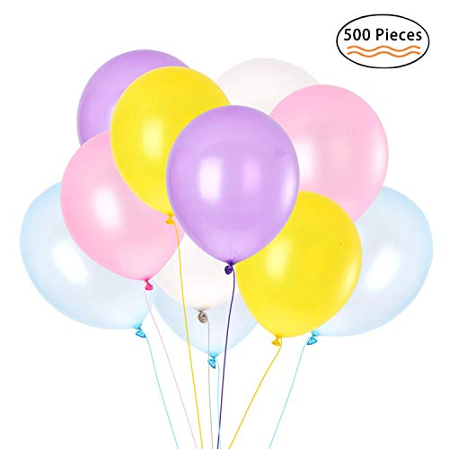 500 PCS Pearlized Balloon, Helium Latex Balloons for Party Wedding Birthday Decoration, Assorted Color Premium Quality by IDAODAN]()