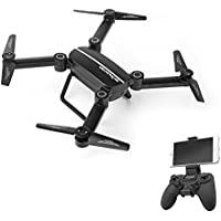 Hapinic Drone RC Quadcopter Altitude Hold Headless RTF 3D 360 Degree FPV VIDEO WIFI 720P HD Camera 6 axis 4CH 2.4Ghz Height Hold Easy Fly Steady for learning, Black