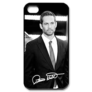 Paul Walker Handsome Photo Sign iPhone 4 4S Full protection Durable Cover Case