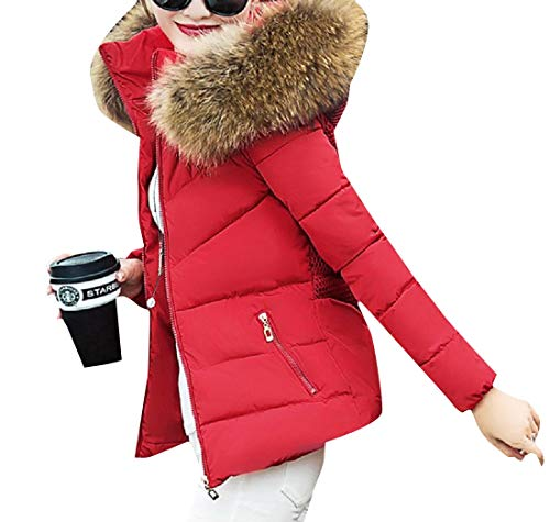Brumal Thick Size Slim Mini Cotton Red Thickened EnergyWomen Plus Fit Coat UqW08aa1n