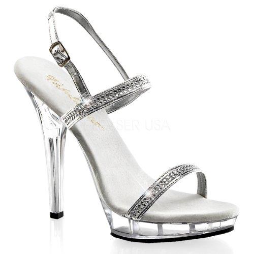 Higher-Heels - Sandalias de vestir para mujer Plateado