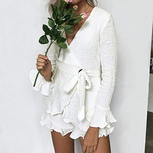 Mode Overmal Costume Neck Femmes Chemise Chic Pices Blouse Haut Sexy Longue Manches Blanc Manches Deux Shirt Florale vases t Automne Top Vetements Dcontracte T Lache et V Sweatshirts ravqdrTw