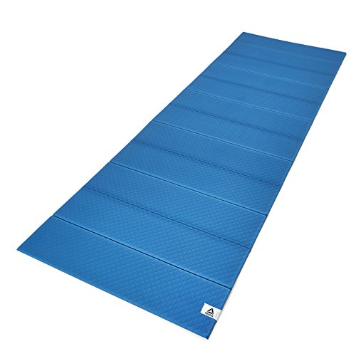 Reebok Folded Yoga Mat, Blue/Black, 6mm