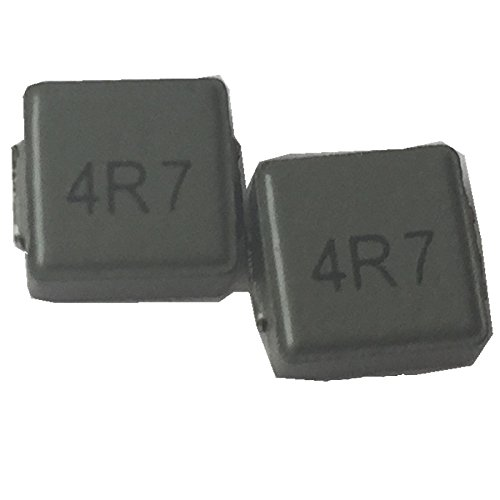 50ea fixed shield inductor 4.7uH surface mount 4R7 chip power inductor transformer 6X6X3mm