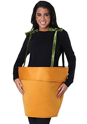 Adult Flower Pot Costume Standard Orange -