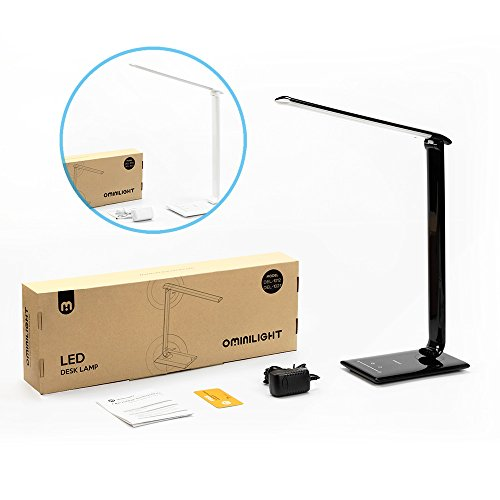 Ominilight-LED-Desk-Lamp-Dimmable-Office-Desk-Lighting-with-USB-Charging-Port-Folding-Reading-Lamp-7-Level-Dimmer-5-Lighting-Mode-Touch-Control-for-Bedroom