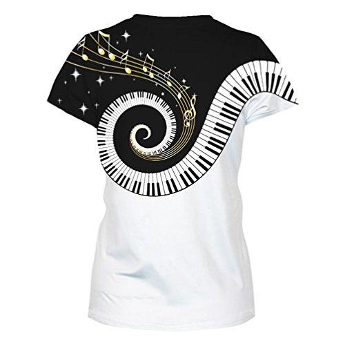 ... ISSHE Damen T Shirt Oversize T Shirts Rundhals Tops Herren Ausgefallene  Coole Shirts Kurzarm Frauen Sommershirt ... 128bac782c