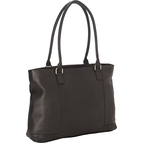 Royce Leather Women's 15 Inch Laptop Tote Bag in Colombian Leather, Black, One Size ()