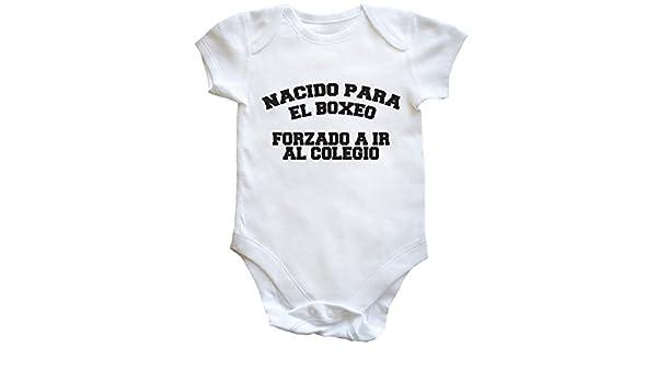 HippoWarehouse NACIDO PARA EL BOXEO FORZADO A IR AL COLEGIO body bodys pijama niños niñas unisex: Amazon.es: Ropa y accesorios
