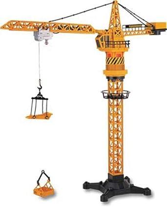 amazoncom hobby engine tower crane remote control toys