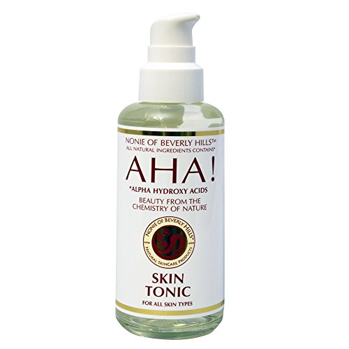 Alcohol Free Tonic - 100% Natural Skin Tonic. Exfoliating Alcohol Free Toner + Aftershave Toner For All Skin Types Best In Anti Aging Hyrdrates With Alpha Hydroxy Acids, Bergamot & Neroli Oils & Organic Apple Cider Vinegar 7.0 Oz GLASS