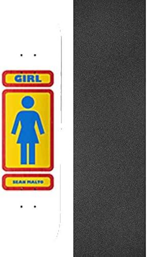 Bundle of 2 Items 8 x 31.5 with Jessup Black Griptape Girl Skateboards Sean Malto 93 Til Skateboard Deck