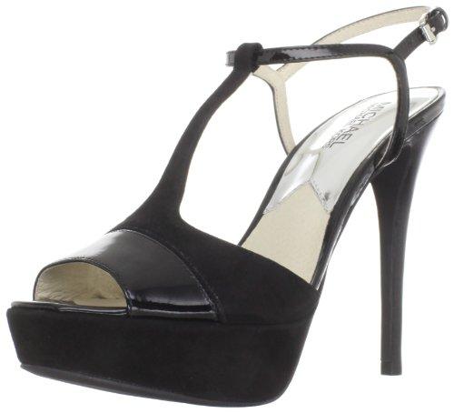 Michael Michael Kors Women's Felicia Platform Sandal,Black Suede Patent,9 M US