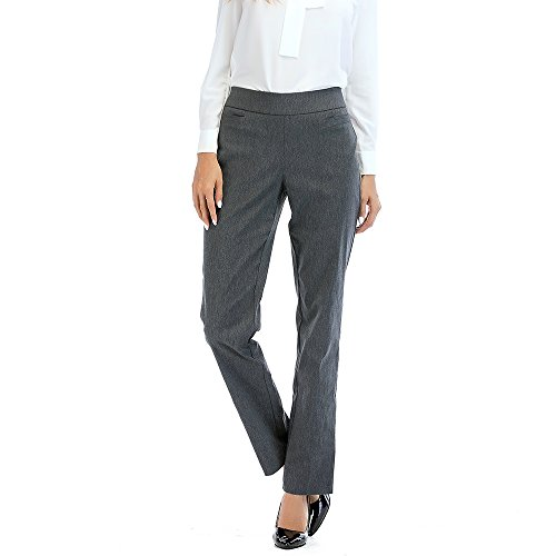 Tracy Evans Womens Ease Into Comfort Pull-On Slim Fit Stretchy Trouser Pant with Welt Pockets and Tummy (Poly Womens Trousers)