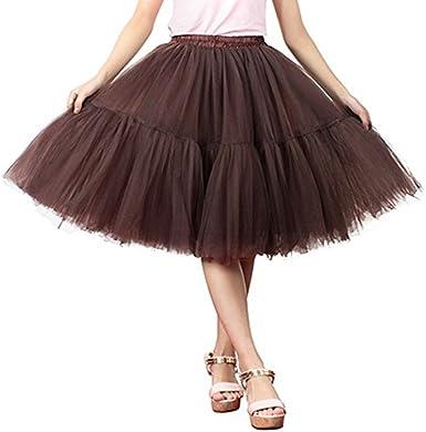 CoCo BLVD Petticoat Women Tulle Skirt Colleer 6-Layer Vintage 50s Crinoline Tutu Underskirts Wedding Party Dress