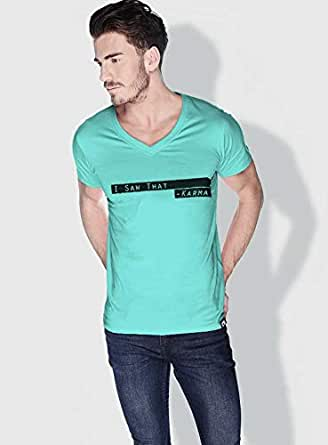 Creo I Saw That Karma Funny T-Shirts For Men - S, Green
