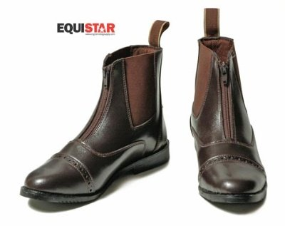 - Equistar - Child's Zip Paddock Boot (All Weather) 3 Black