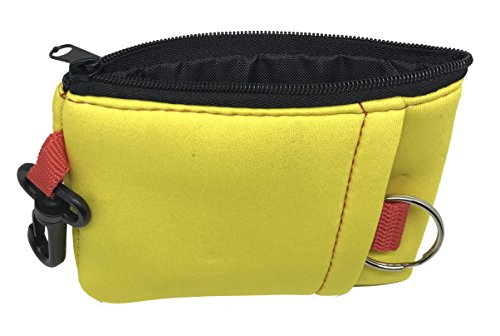 Sports Imports Yellow Floating Wallet with Zipper, Hook & Key Ring