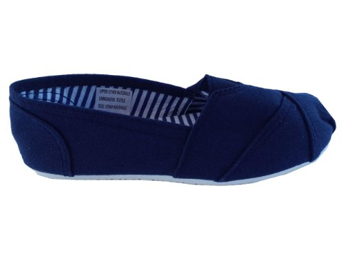 shoes pumps navy flats stitched canvas Espadrilles toe beach 4BfqfCn