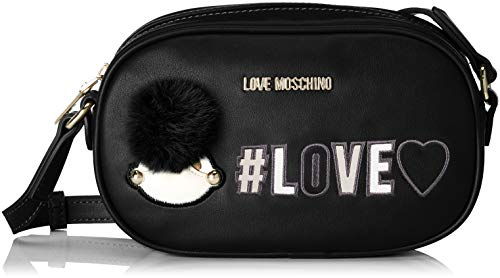 Noir portés Pu Moschino Love Nero Borsa Sacs épaule xYSRCq