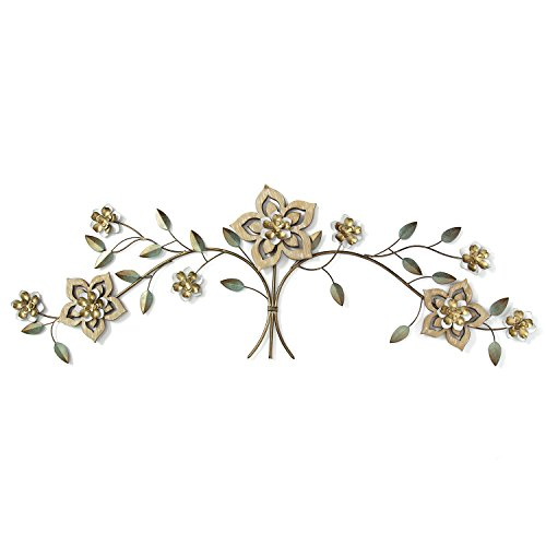 Stratton Home Decor Wood Flower Over the Door Wall Decor, Multicolor