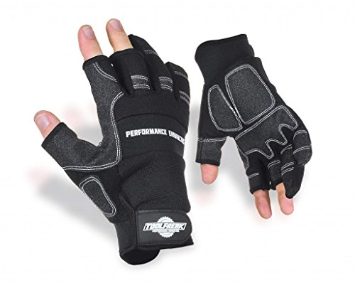 Toolfreak Work Gloves   A Heavy Duty Design That Provides Better Protection   Backed Up With Open Fingers That Still Gives You Maximum Control   Improved Design For All Round Better Anti Slip Grip