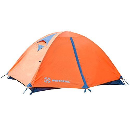 Winterial 2 Person Tent, Easy Setup Lightweight Camping and Backpacking 3 Season Tent, Compact, Tents For Camping 2 Person