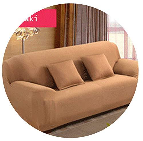 - 4/3/2/1 Seat Elastic Spandex Sofa Cover Universal Solid Color Stretch Couch Slipcover Sofa Elastica 4 Plazas Plaid Canape,Sf006-10,4 Seater 235-310