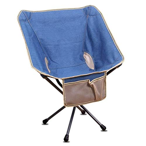 (NYDZDM Lazy Beach Chair Folding  Stool,Stools Outdoor Portable Folding Stool Chair Fishing Chair BBQ Butterfly Stool (Color : Lake Blue, Size : 675873cm))