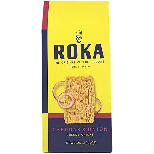 Roka, Cheddar and Onion Cheese Crisps (8 pack)