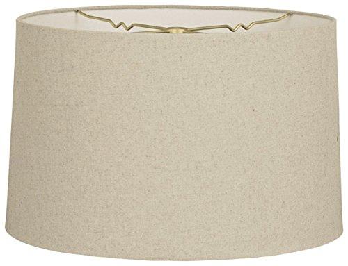 w Drum Hardback Lamp Shade, Linen Cream, 9 x 10 x 7 (Cream Hardback Shade)