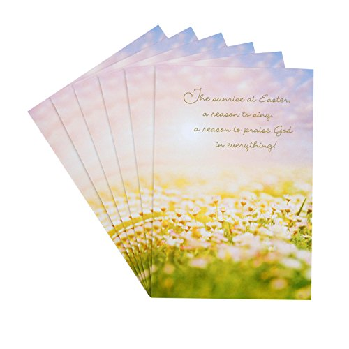 Hallmark DaySpring Pack of Religious Easter Cards, Joyful Easter Blessings (6 Cards with Envelopes)