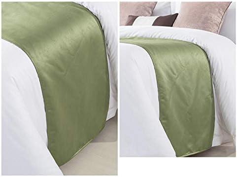lit Coureur Literie Bed Runner Décoratif Drapeau de Lit Simple Plaine Haut de Gamme Oreiller Costume Hôtel chez L'Habitant Serviette de Lit Matelas 50X240cm/19.6X94.4inches