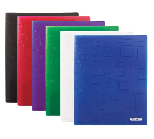 UPC 764608021392, BAZIC Cubic Embossed Multi Color 2-Pockets Poly Portfolio (2139)
