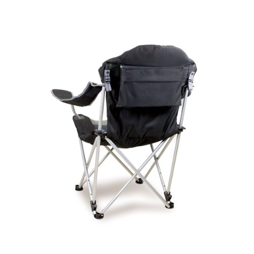 Picnic Time Portable 'Reclining Camp Chair', Black/Gray